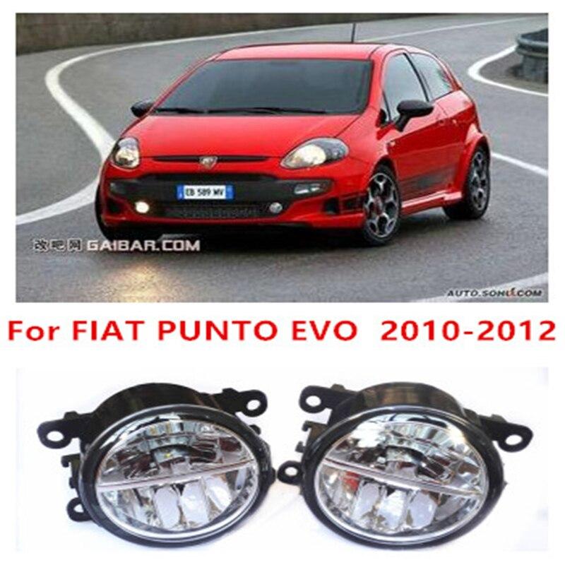 For FIAT PUNTO EVO  2010-2012  10W Fog Light LED DRL Daytime Running Lights Car Styling lamps<br><br>Aliexpress
