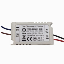 2 Pcs Isolation 20W AC185-277V Dimmable LED Driver 7-20x1W 300mA 3%-99% DC21-66V ConstantCurrent For Ceiling Lamp Free Shipping(China)