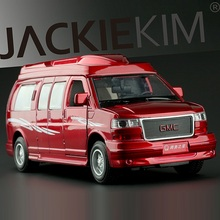 High Simulation Exquisite Diecasts & Toy Vehicles: JACKIE KIM Car Styling Premier GMC Sanava 1:32 Alloy Diecast MPV Model