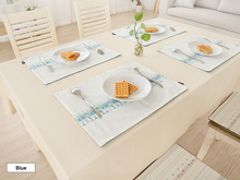 Cotton Linen Placemat Fabric Dining Table Mats Rugs Eco-friendly Table Pad Coaster Japan StyleTable Decoration Kitchen wares