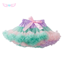 Hot! fairy tutu skirt supper fluffy many layers MUTIPLE COLOR skirt high quality pettiskirt ruffles rainbow skirts for girls(China)