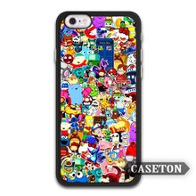 Cartoon Stickers Boom Tardis Doctor Who Case For iPhone 7 6 6s Plus 5 5s SE 5c 4 4s and For iPod 5