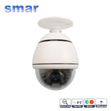 CCTV Security 4 Inch Indoor/Outdoor Mini Speed Dome Sony CCD 700TVL 10X Optical Zoom PTZ Camera Free Shipping(China)