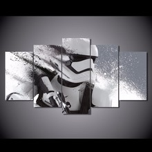 Modern Home Decorations 5 piece canvas art Star Wars Stormtrooper Movie Posters and HD Prints Wall Pictures for Living Room(China)