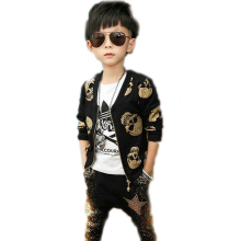 children clothing sets 2017 new spring skull designs printed children clothing sets top jackets +harem pants toddler boy clothes