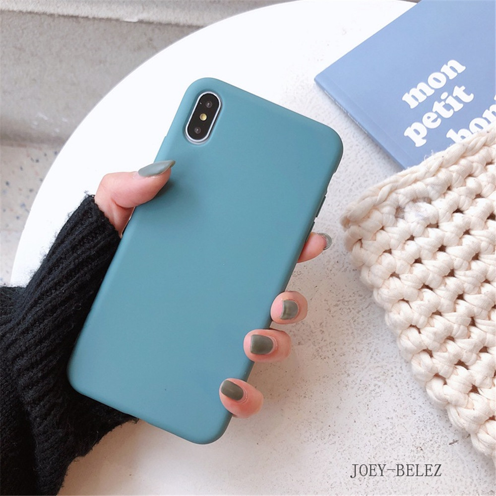 Matte Phone Cases For iPhone 7 Candy Case For iPhone X 7 6 6S 8 Plus 6 6S Case Cover XR XS MXA Coque Silicon Fundas Capa Carcasa17