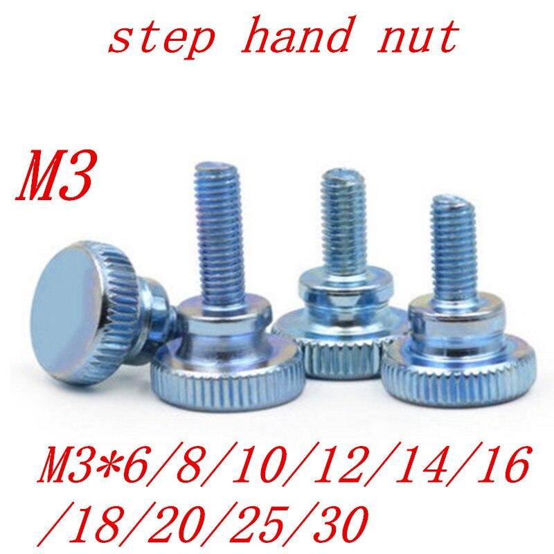 Vis moletée m8 x 20 Vis Moletée avec poignée en plastique 25 pièces