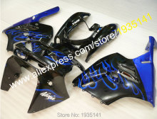 Hot Sales,Blue flames black body Kawasaki NINJA Fairings kit ZX9R 94 95 96 97 ZX-9R Cowling plastic ZX 9R 1994 1995 1996 1997