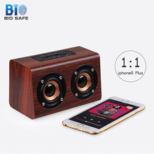 [Bio Speakers]Outdoor Wood Bluetooth Speaker for Huawei for Samsung Mini TF Card Subwoofer Audio Music Player Computer Speakers(China)