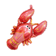 10pcs/lot 40inch Cute Lobster Balloon Birthday Party Decorations Inflatable Toys Foil Balloons Animal Jumbo Size Balloon(China)