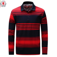 Fredd Marshall 2017 Autumn Mens Striped Polo Shirts Long Sleeve Brands Polo Shirt 100%Cotton Male Camisas Polo Plus Size 3XL 735