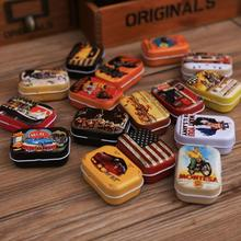 Pattern Random !!Vintage Cartoon Tin Box 5.5*4*2.5cm Candy Pill Chutty Mini Storage House Decoration Collectables Display