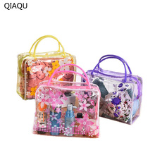 QIAQU Plastic Transparent Organizer Bags Cosmetic Bags Makeup Casual Travel Waterproof Toiletry Wash Bathing Storage bags(China)