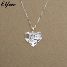 Elfin 2017 Trendy Chinese Crested Necklace Gold Color Silver Color Dog Jewellery Pendant Necklace Women Steampunk(China)