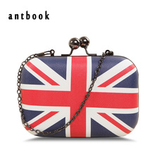 Freeship New 2017 Fashion Uk England Flag Printing Women Clutch / Vintage Messenger Bag Shoulder Bag / Pu Leather Handbags Bolsa