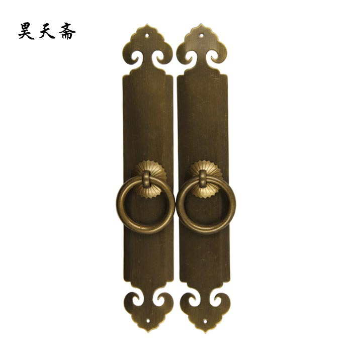 [Haotian vegetarian] Chinese antique Ming and Qing furniture handle door handle copper handle HTC-291<br><br>Aliexpress