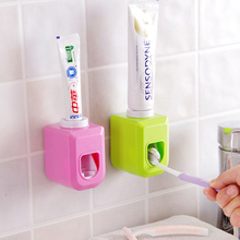 Useful Bathroom Tooth Utensil Touch Automatic Auto Squeezer Toothpaste Dispenser Hands Free Squeeze out Color Randomly