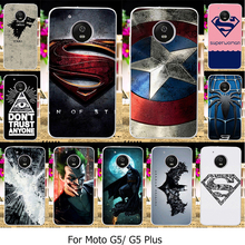 Phone Cover Cases For Motorola Moto G5 Plus XT1687 XT1684 XT1685 Cellphone Covers TPU Plastic Cases Iron Man Superman Shell Skin