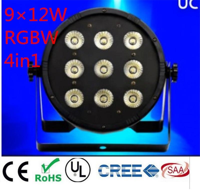 2pcs 9x12W RGBW 4IN1 led par 54 DJ Par LED RGBW Wash Disco Light DMX Controller Free Shipping<br>