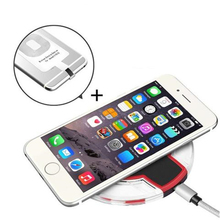 Buy Qi Wireless Charger iPhone 7 7Plus Fast Wireless Charging iphone 6 6s Plus 5 5s se Charger Pad+Receiver Charging Adapter for $7.99 in AliExpress store