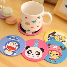 cute Creative fashion cartoon Silicone cup mat coaster placemat Dining accessories Novelty household product JJ0001