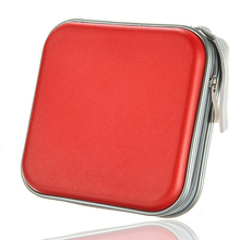 40 CD DVD Disc Storage Carry Case Cover Holder Bag Hard Box - Red