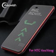 Flip Cover Silicone Case HTC 620 G HTC620 620G Slim Dot Dotted Smart Sleep View Phone Cases Original Desire 820 Mini D820mu