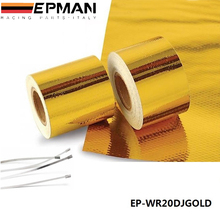 "AUTOFAB 2""x5 Meter Reflect-A-Gold Tape Performance Heat Protection Tape/Barrier New Arrival Best For Honda civic AF-WR20DJGOLD"