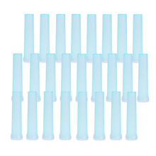 Flower Tube 25Pcs 72mm Blue Plastic Water Tube Flowers Plant Nutrition Keep Fresh Rhizome Tube Hydroponic Container Home Decor
