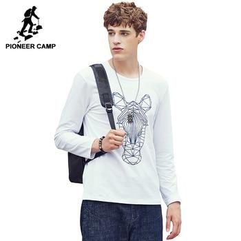 Pioneer Camp New arrival T shirt men brand clothing fashion male T-shirt top quality print Tshirt for men