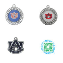 Skyrim 10pcs AU Auburn University Tigers Football Team Logo Blue Enamel Crystals Charms