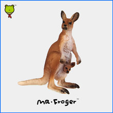 Mr.Froger kangaroo Model Toy Wild Animals Toys Set modeling plastic Solid Classic Toys Children Animal Models Australia cute