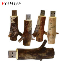 FGHGF novetly usb flash drive natural Wooden model tree branch memory stick pendrive 4GB 8GB 16GB 32GB thumb drive usb creativo(China)