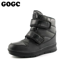 New Arrival 2018 Winter Shoes Men GOGC 눈 Boots 대 한 Men Winter Warm Ankle Boots 남성 Plus Size 41- 46 편안한 Flat Shoes(China)