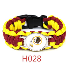 American Football Washington Redskins Team Umbrella Jewelry Bracelet Outdoor Escape Survival Charm Bangle 23cm/25cm