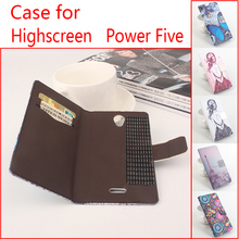 For Highscreen Power Five Phone Case Folio Flip Premium Pattern PU Leather Wallet Case Cover Factory Price