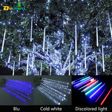 30cm50cm LED String Light Meteor Holiday Lighting Christmas Falling Star Drop Lights Wedding Party GardenString Outdoor Light