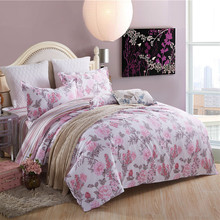 Free shipping bedding set 4pcs bedclothes sets full queen king size duvet cover bedsheet pillowcases 100% cotton comforter sets