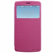 NILLKIN Brand Sparkle Super Flip Cover Leather Case For LG LG Stylus 3 M400DK Smart Sleep Wake Function Phone Case
