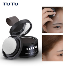 TUTU Makeup Hair Line Shadow Bronzer Powder 4 Colors Beauty Shadow Repair Easy to Wear Make Up Eye Brow With Mirror & Puff(China)