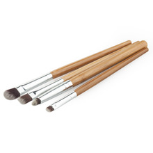 4pcs 4styles eye makeup brushes Eyebrow Eyeshadow bamboo handle Nylon hair Eye foundation brushes Cosmetic make-up brush tools