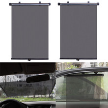 Car Auto Retractable Windshield Window Sunshield Visor Sun Shade car-styling car accessories fashion universal 2Pc 40*45cm(China)