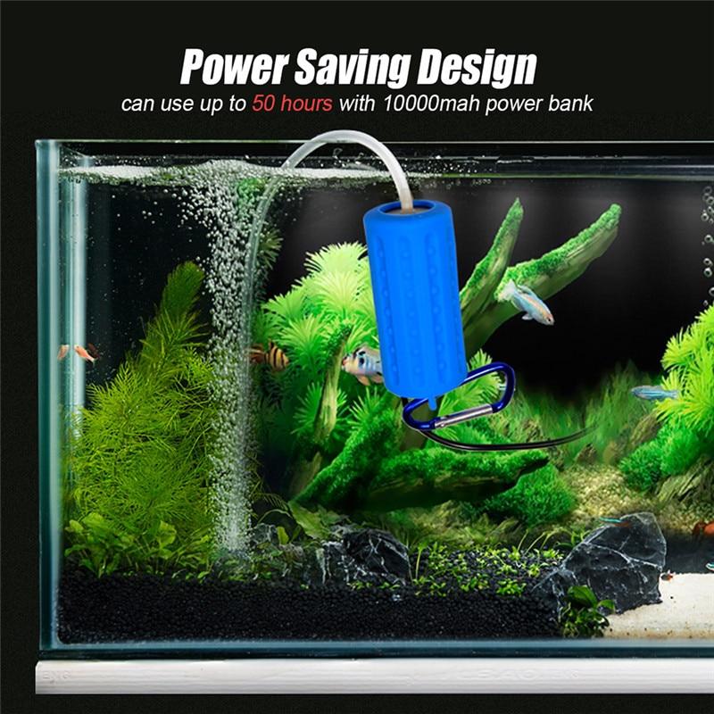 Aquarium Air Pump Portable Mini USB Oxygen Air Pump Mute Energy Saving Supplies Aquatic Terrarium Fish Tank Accessories 06