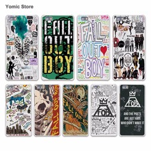fashion Fall Out Boy bands logo hard White Case Cover for Huawei P7 P9 P8 Lite P9 Plus Mate 9 8 7 S Phone Case
