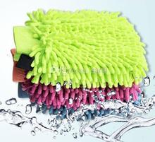 Popular Snow Neil fiber double coral type high density Car wash mitt gloves towel Mop(China)