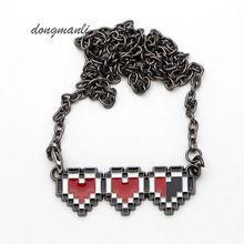 MF1253 The Legend of Zelda Heart necklace lovers quality factory price jewelry accessories