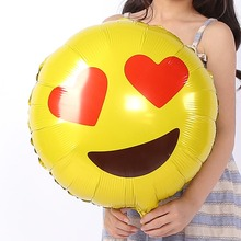 FANTASTIC  IDEA Love expression balloon, cartoon foil birthday party air traveler balloon child baby toy holiday ball decoration