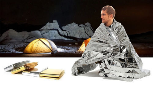 Hot Portable Water Proof Emergency Survival Rescue Blanket Silver Outdoor Camping Hunting Hiking First Aid Tool L-007<br><br>Aliexpress