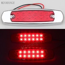 MZORANGE 2 Pcs Universal 12V DC 12 LED RED Side Marker Indicator Light Lamp For Truck Trailers Lorry Bus Tail Light(China)
