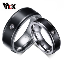 Vnox 100% Titanium Ring for Women / Men Wedding Engagement Ring Not allergic 6mm/8mm for 1 piece
